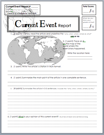 current events for a research paper Finding current events resources search the site go for students & parents homework help writing research papers tools.